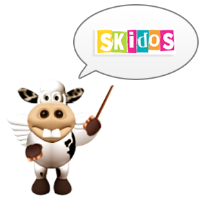 SKIDOS Cow with logo