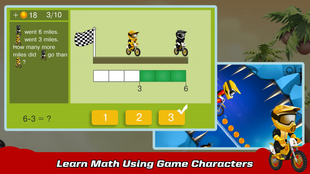 Learn Math using game characters