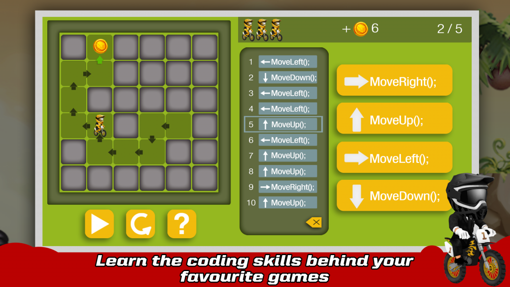 Learn coding skills with gaming apps