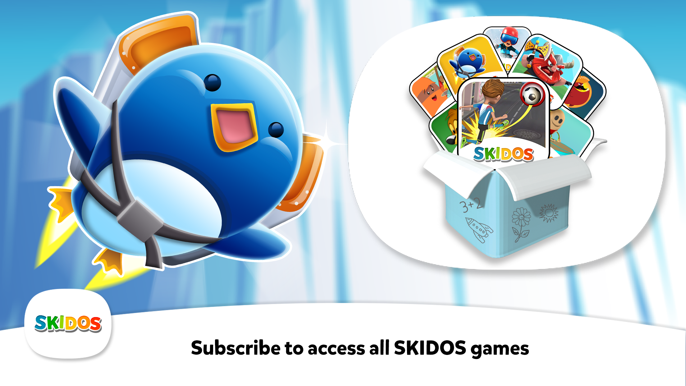 SKIDOS Penguin Flyer Cool Math Games
