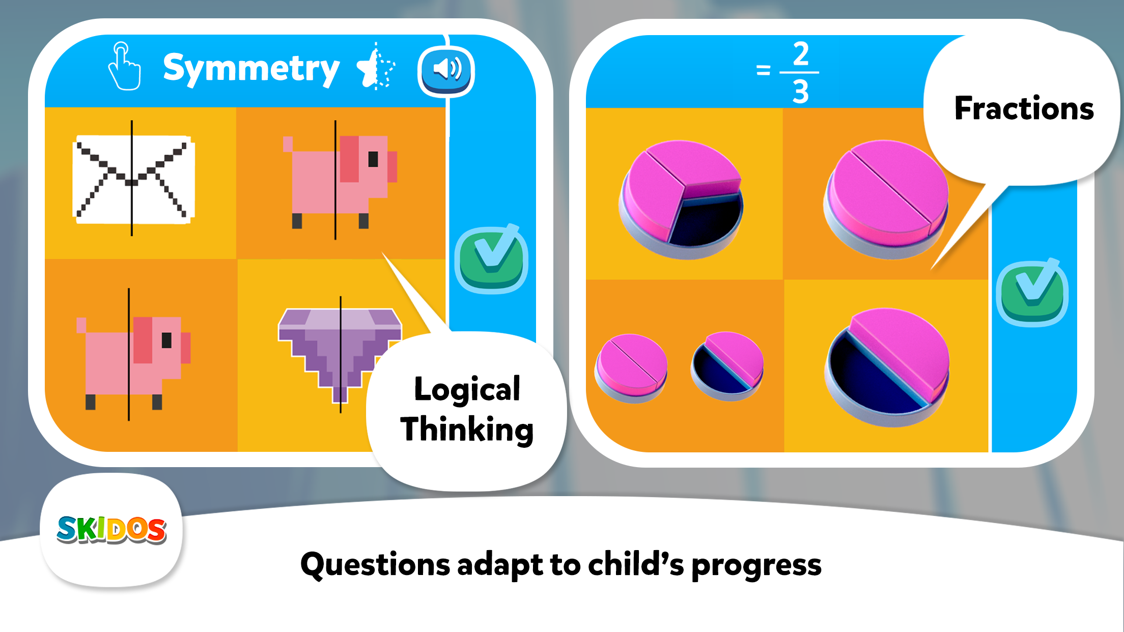 SKIDOS Logical Thinking Math Games