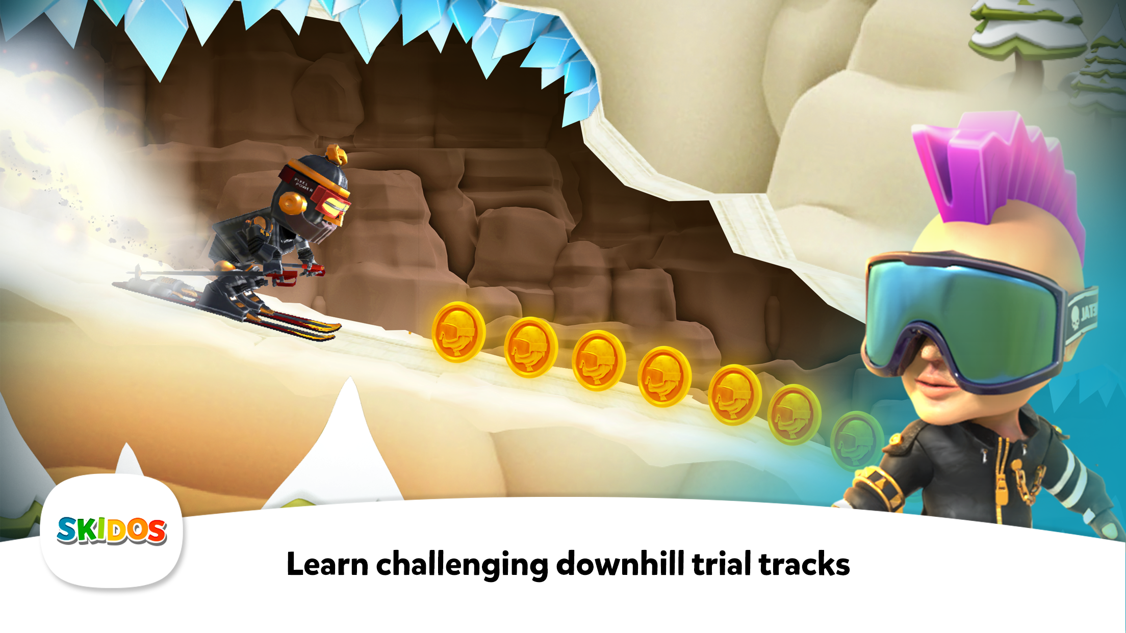 SKIDOS Snow Race Cool Math Game