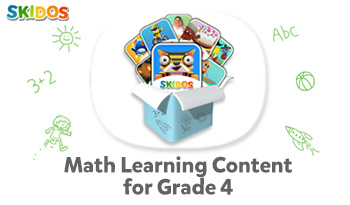 SKIDOS Math Learning Content for Fourth Grade