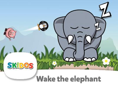 wake the elephant math game