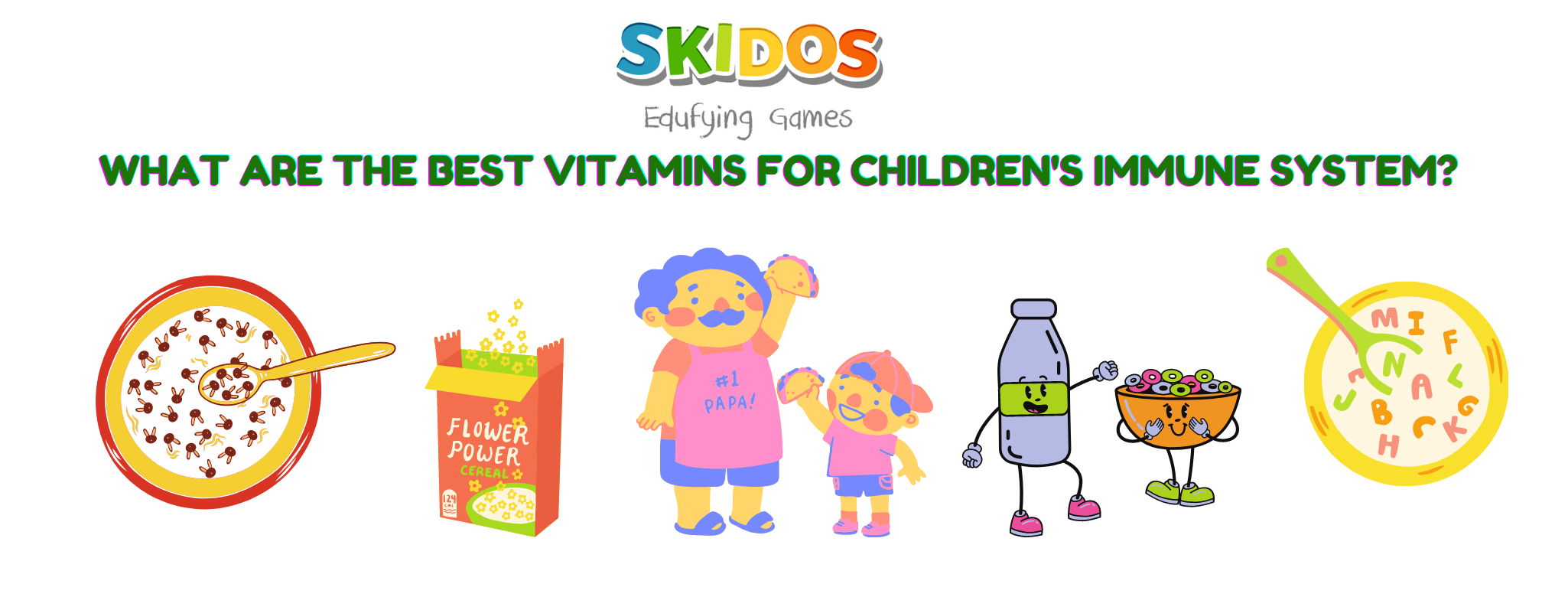 vitamins foods to for children's immune system