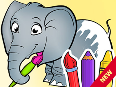 Animal Coloring Games for Toddlers