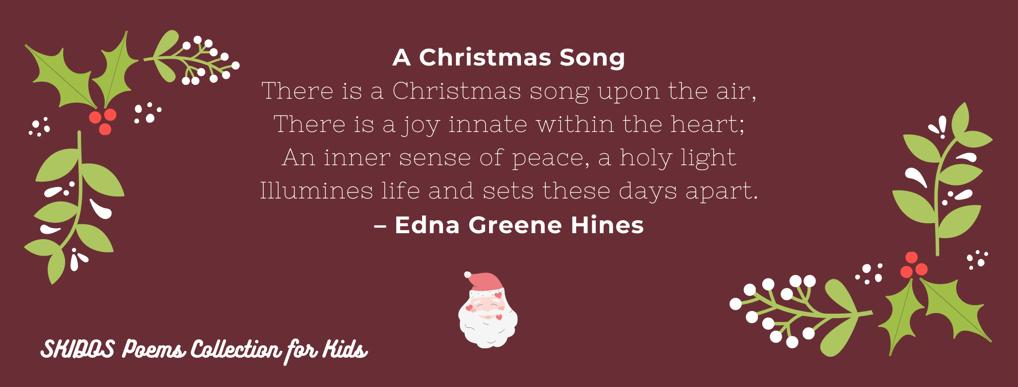 Christmas Poems Collection for Kids