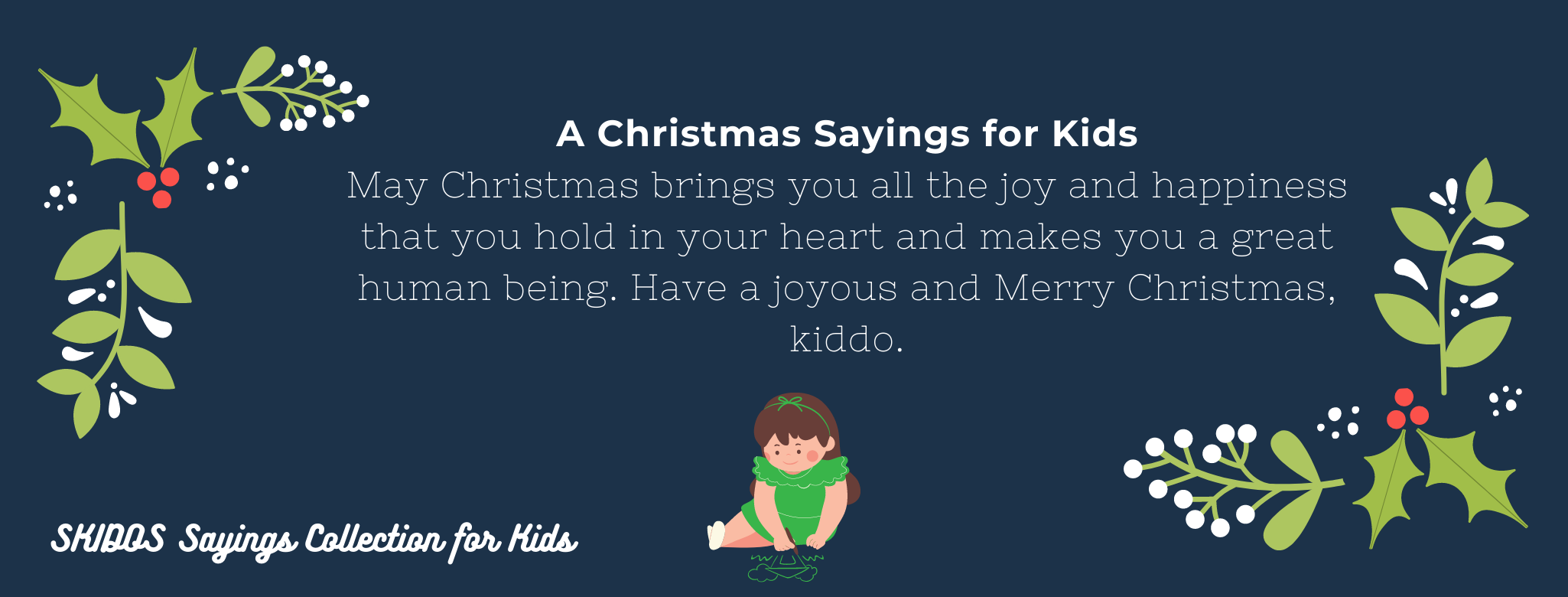 Christmas Sayings for Kids