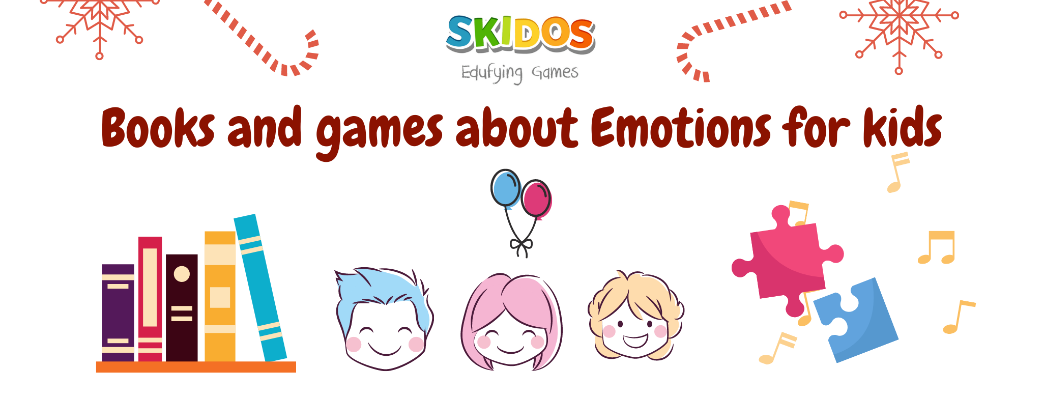 Books and games about Emotions for kids