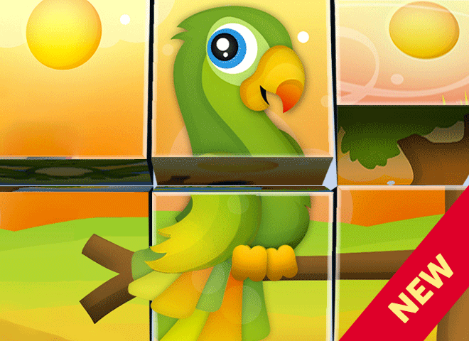 Animal Cube Puzzles Games for Toddlers